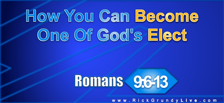romans 9 6 13 In romans 9:1-5 we saw paul express his personal anguish over the state of his people, israel he is exceedingly bothered by their lack of response to the gospel of christ.